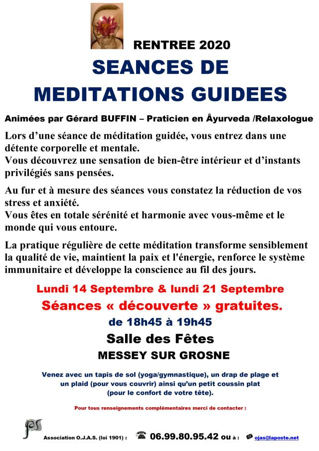 AFFICHETTE RENTREE 2020 MEDITATION